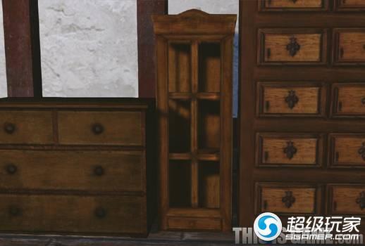 上古世纪原木玻璃装饰柜