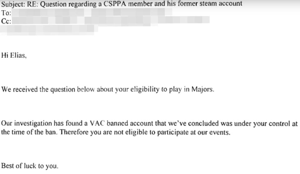V社回应Jamppi请求:不得参加V社组织的比赛