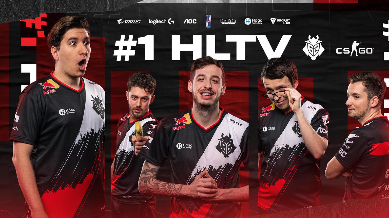HLTV每周战队积分榜:G2队史首次登顶,北美霸主易位巴西