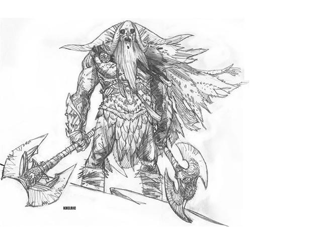 公平正义的简笔画-暗黑破坏3漫画公正之剑原画欣赏