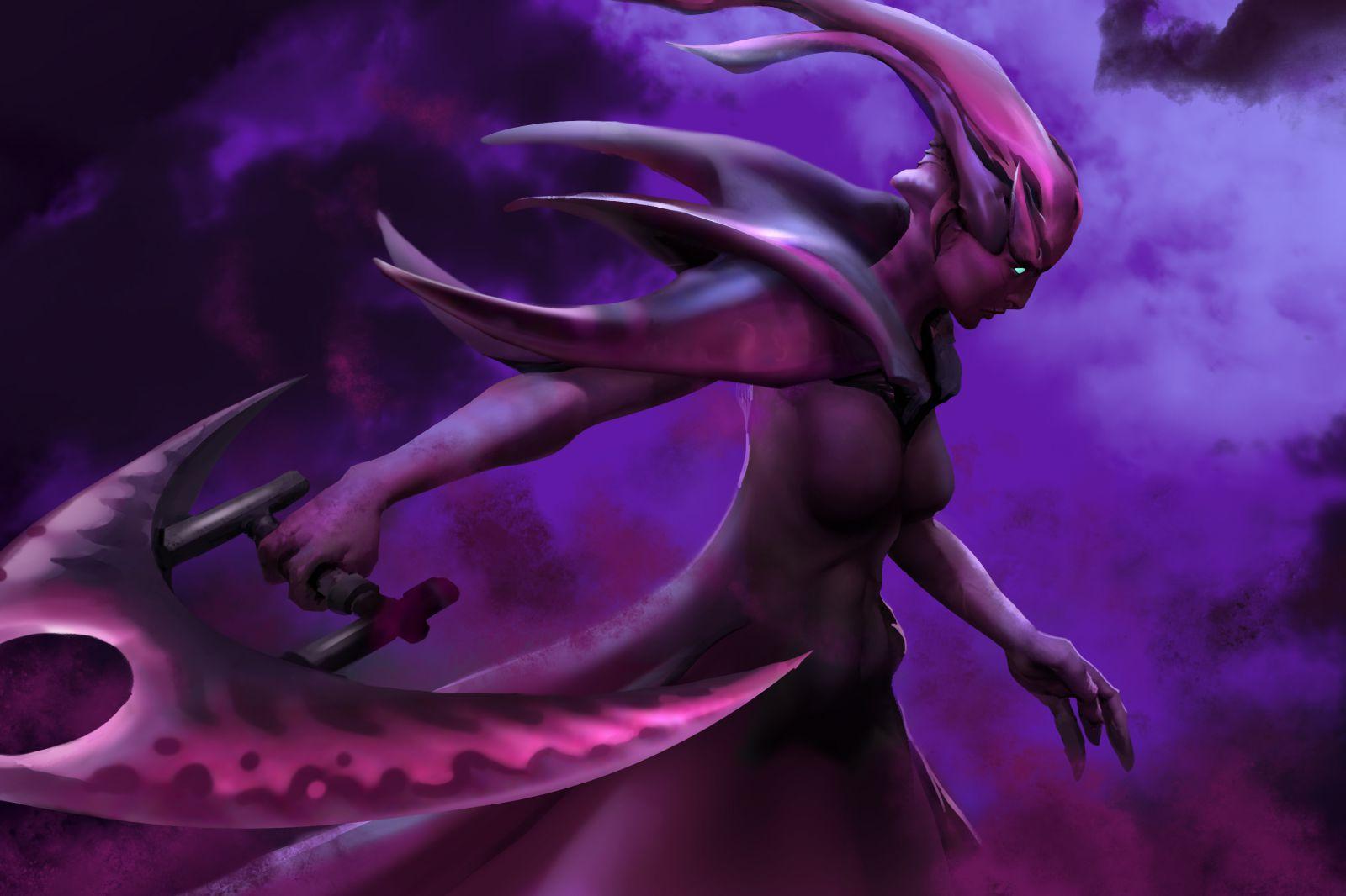 黑暗中的诱惑 DOTA2幽鬼精美涂鸦