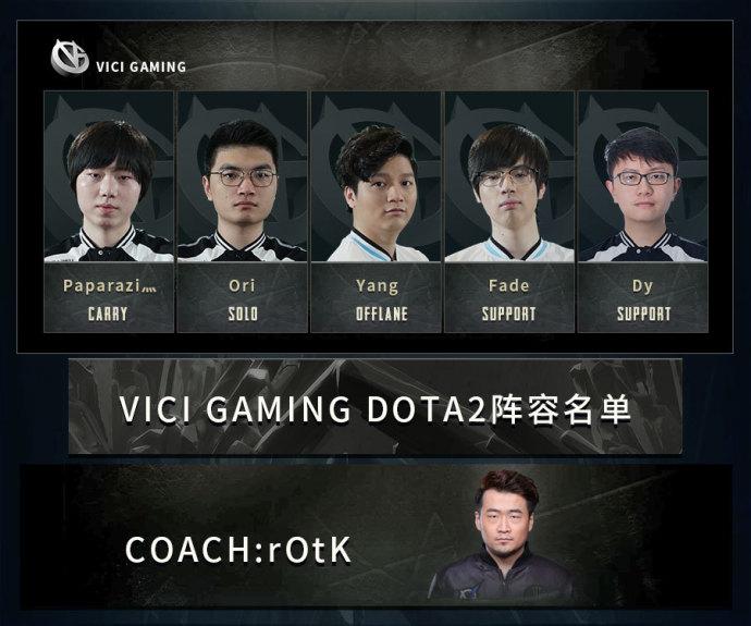 VG战队发布公告确认阵容 Rotk司职教练