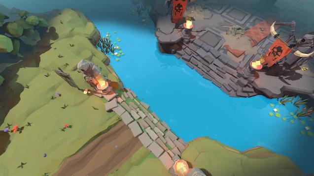 Dota2低多边形地图登录创意工坊,卡通风格惬意游戏