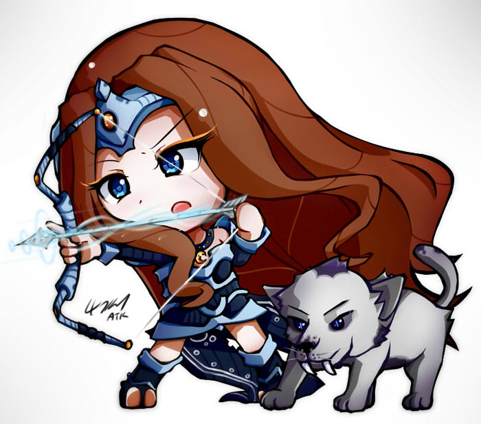 dota2超萌手绘图赏 众英雄变身小萝莉