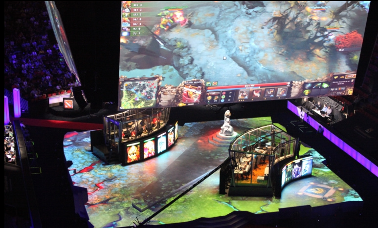 ti5 cool projection effects figure reward arena turned dota map