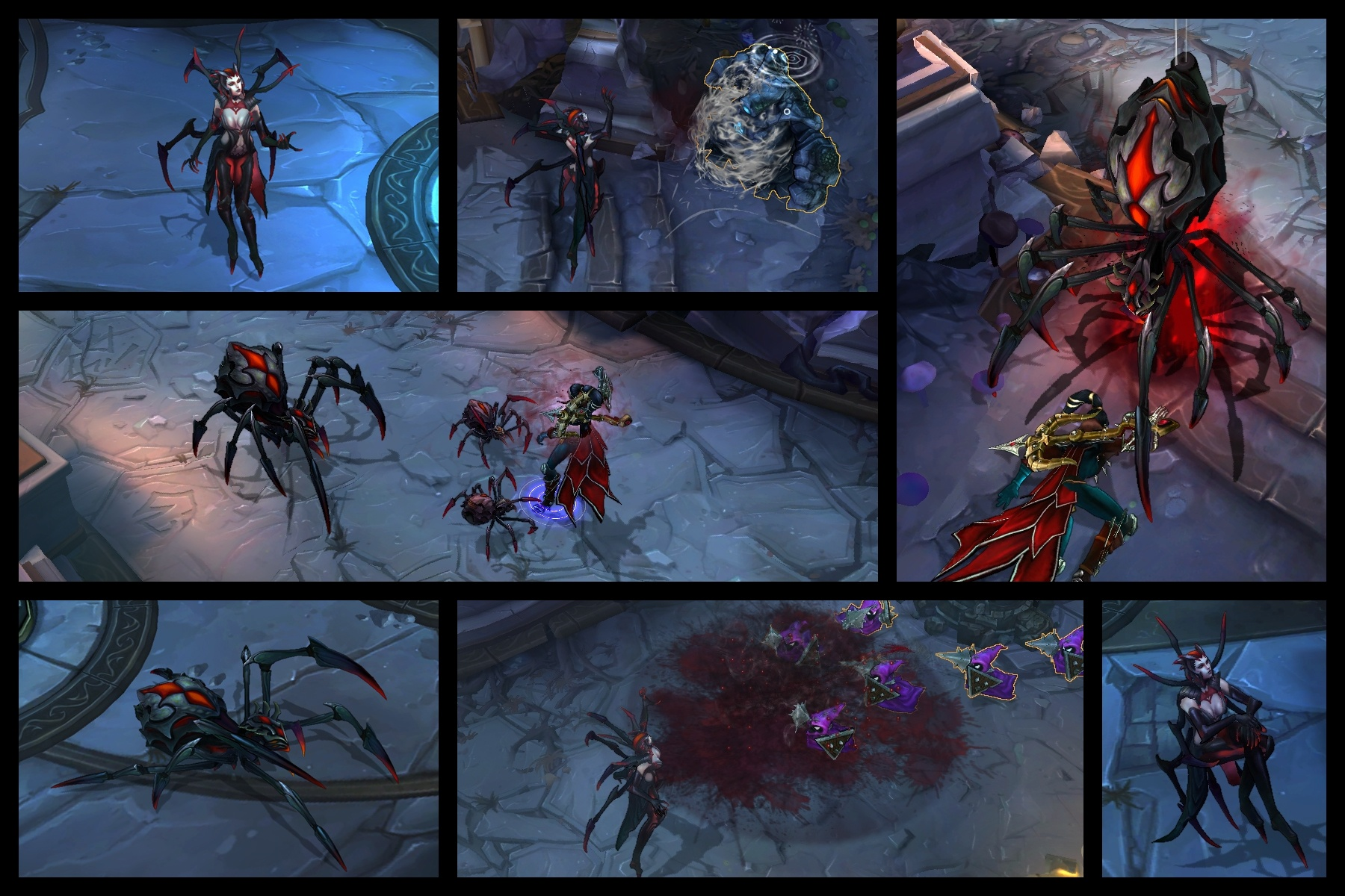 英雄/LOL英雄联盟蜘蛛女皇伊莉丝原画,皮肤,壁纸,截图大全...