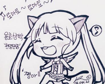 可爱哒萌萌哒 剑灵韩国玩家原创超萌手绘