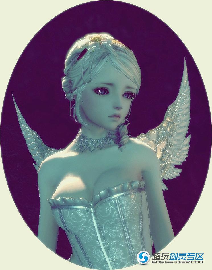 楚楚可怜的表情毫无抵抗力 剑灵女天使时装 剑