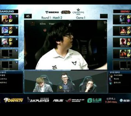 LCK夏季赛比赛视频 Samsung vs SBENU