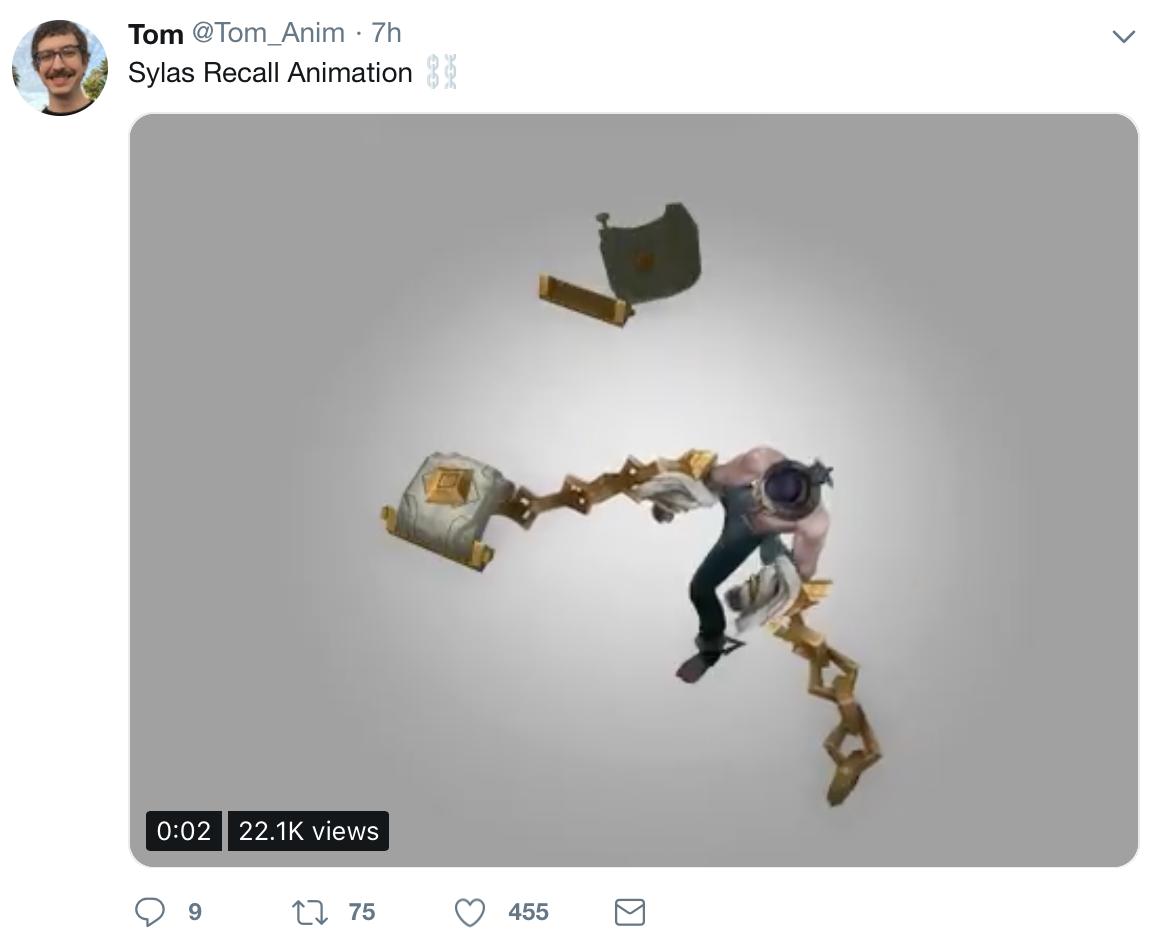 新英雄塞拉斯回程动画:取消回城加入了挣脱锁链的小动作