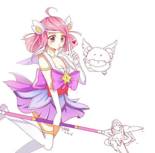 画集:魔法少女拉克丝 萌萌哒魔法能量 英雄联