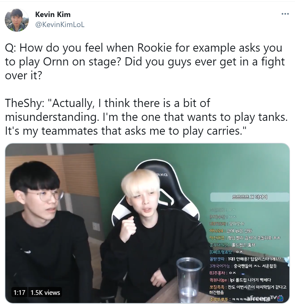 TheShy直播:自己想玩坦克 但是队友们让我选Carry英雄