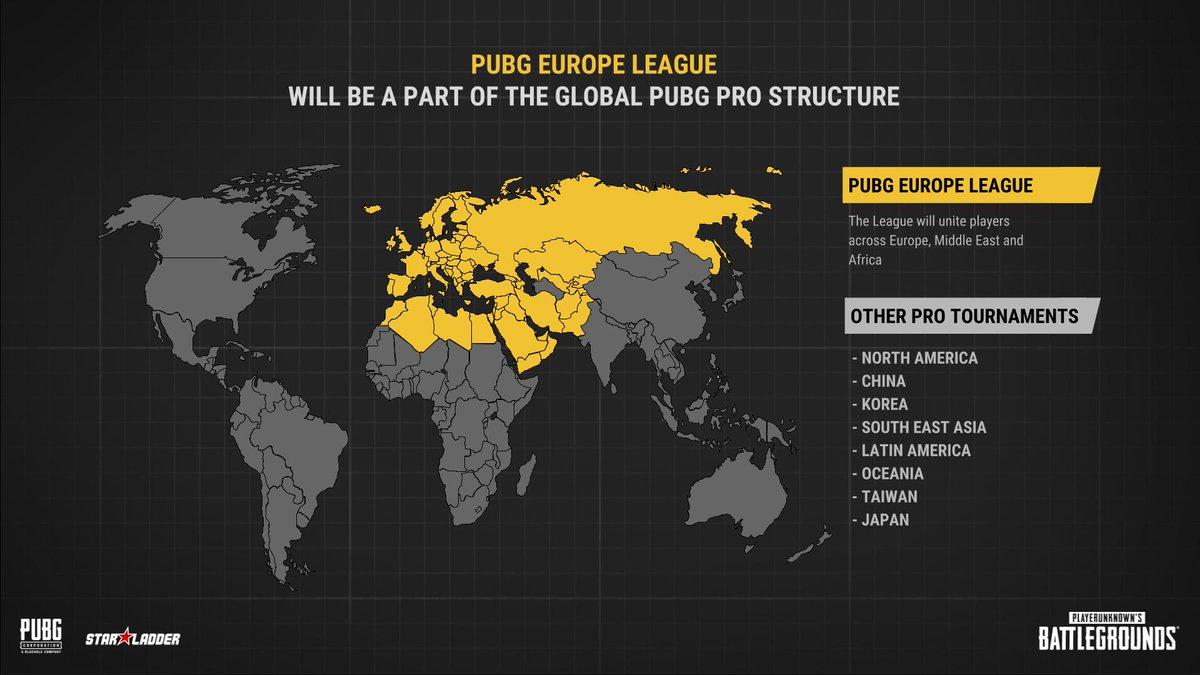 PUBG和Starladder宣布启动第一次欧洲职业联赛