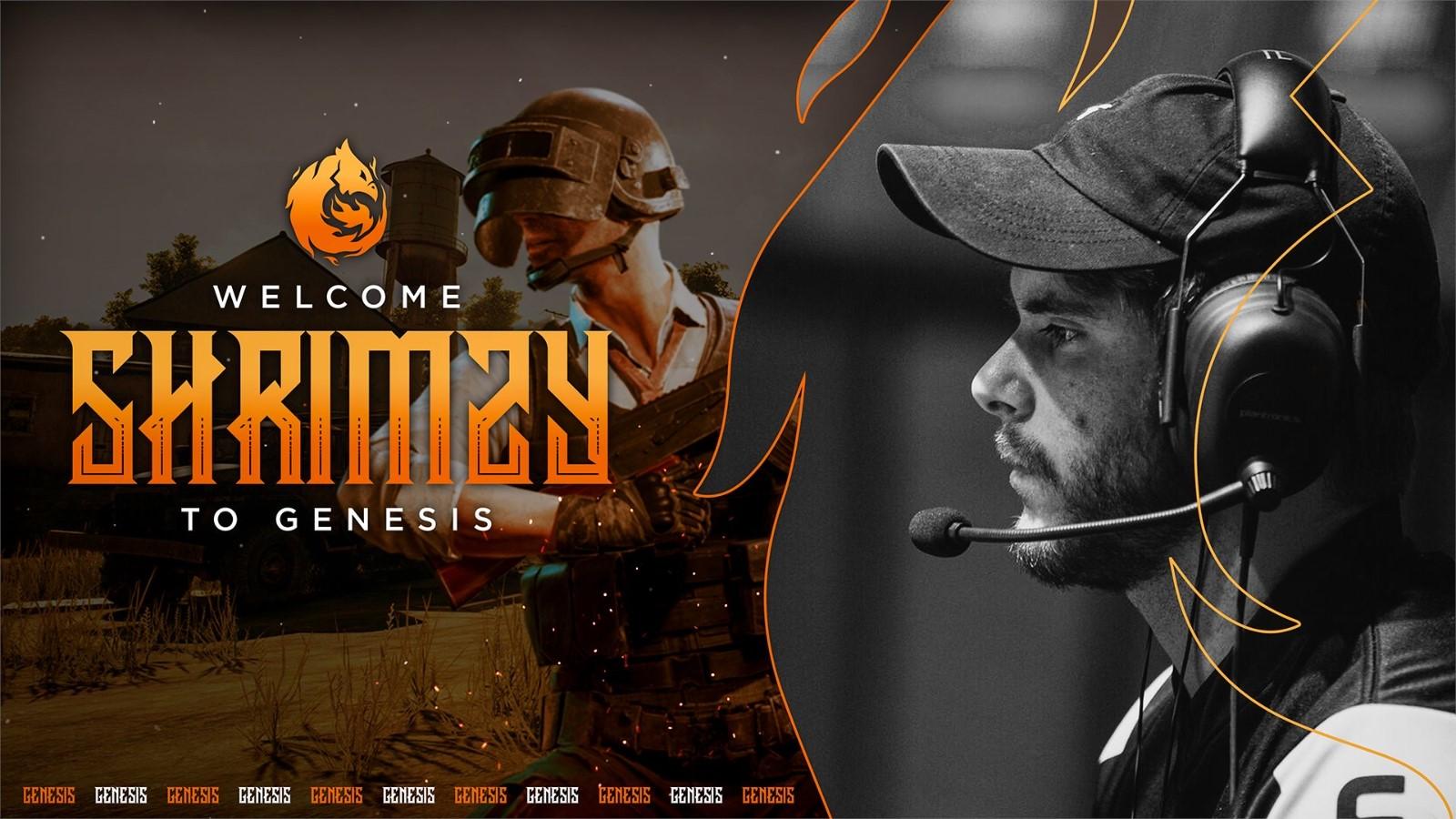 前Ghost战队选手Shrimzy加入Genesis征战2020赛季