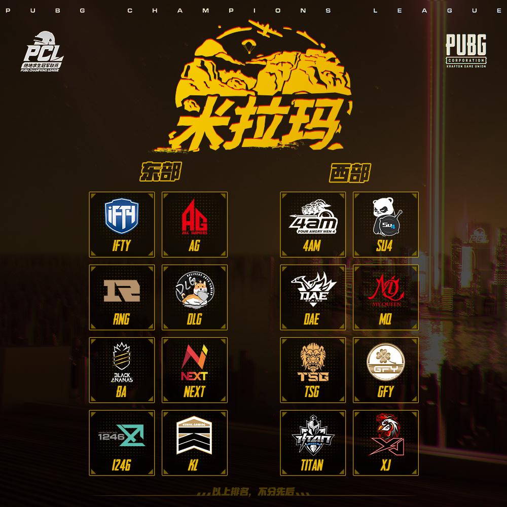 PCL2020春季赛分组正式出炉:3大赛区、6组战队同台竞技