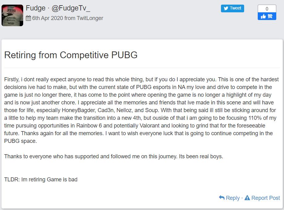 游戏Valorant成为众多PUBG退役选手转项的首要选择