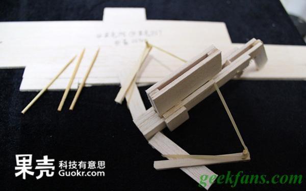 科技小制作竹签作品