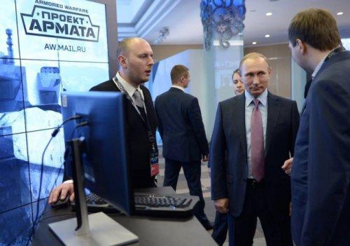 普京总统试玩装甲战争