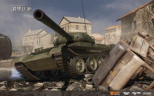 碾压敌人的T-54