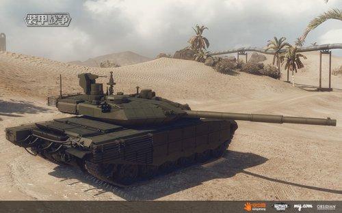 身披反应装甲的现代坦克T-90