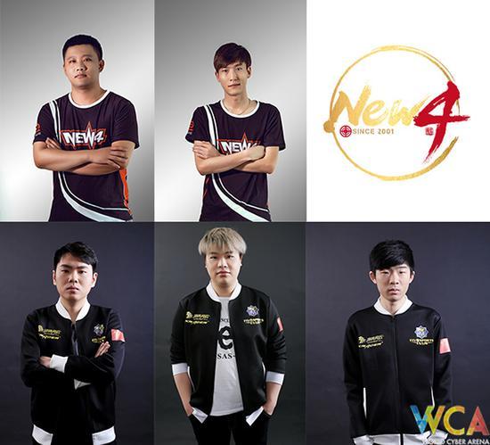 队员:Jackhan(左上)、Jewelry(中上)、Six(左下)、Drer3er(中下)、Oi(右下)