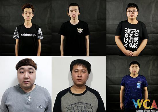 队员:C2h(左上)、comebackisreal(中上)、kury(右上)、3tm(左下)、zakia(中下)、Yzl(右下)
