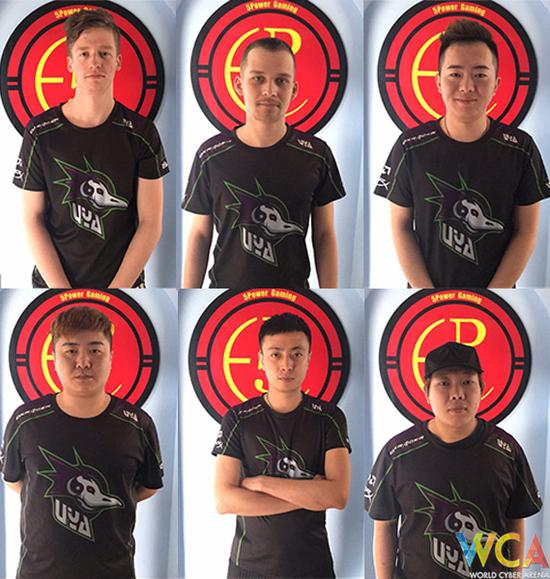 队员:FEjtZ(左上)、VOFKIN(中上)、Qkakingofking(右上)、 Forget(左下)、XiaosaGe(中下)、Benny(右下)(教练)