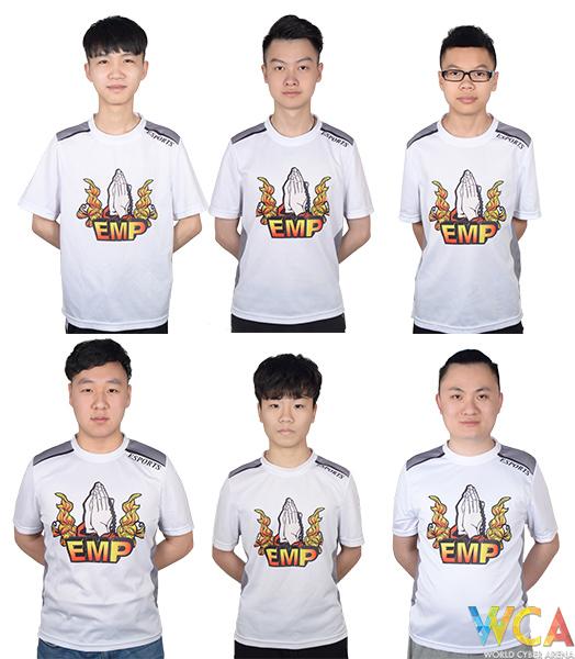 队员:yVONNEww(左上)、Raining(中上)、Rv1(右上)、M4R777iN(右下)、LING(中下)、AE(左下)