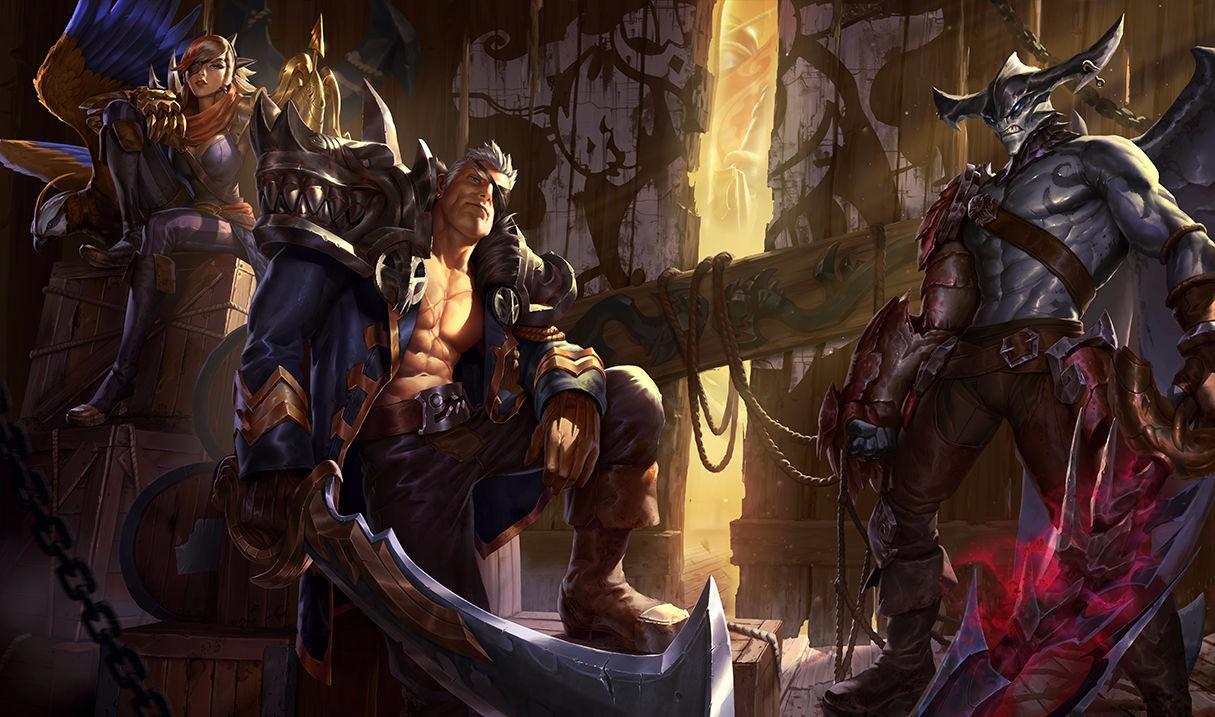 加倍炫酷 暗裔剑魔 亚托克斯新旧原画对比