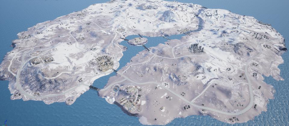 绝地求生雪地地图全景曝光