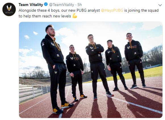 Vitality战队新阵容备战PEL 前Liquid选手Hayz任教练