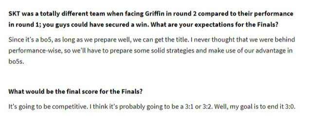 SKT预定冠军?Faker表示LCK很无聊 想打国际比赛了