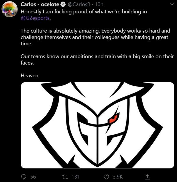 G2老板:我为我们俱乐部的团队文化感到骄傲