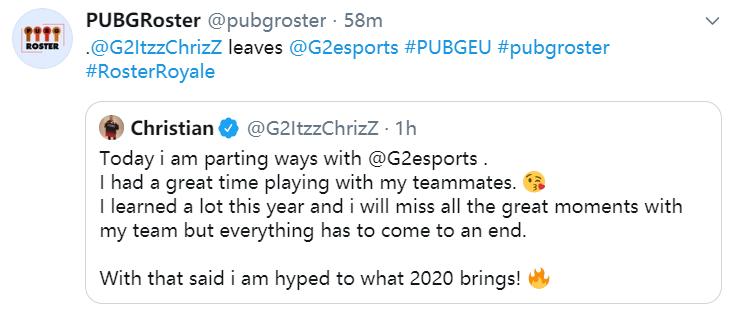 三强同时离队,G2新赛季阵容将面临全面调整