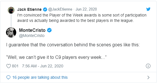 C9老板不满周最佳选手评选:应该选出周最差选手