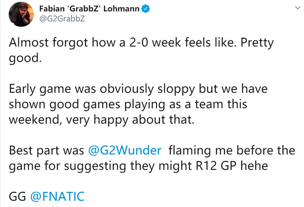 G2教练:Wunder还想质疑我的预测?爷笑了