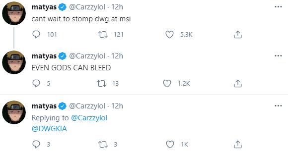 MAD下路Carzzy:迫不及待在MSI上击败DWG了
