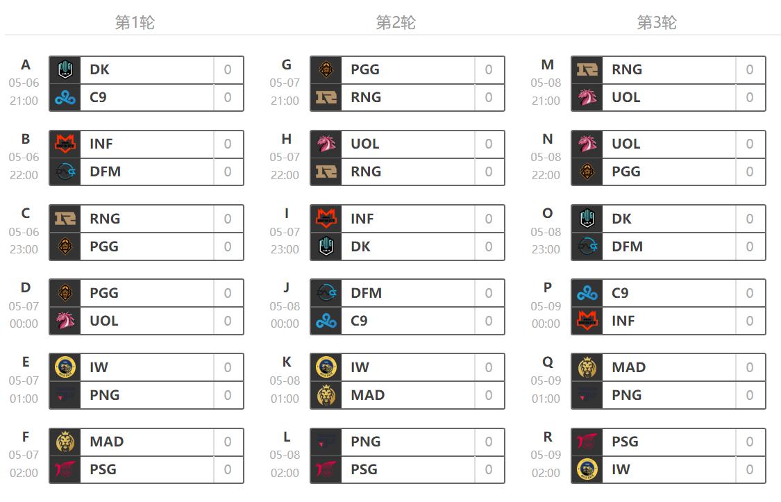 玩加上线MSI小组赛完整赛程 21:00——02:00每天六场